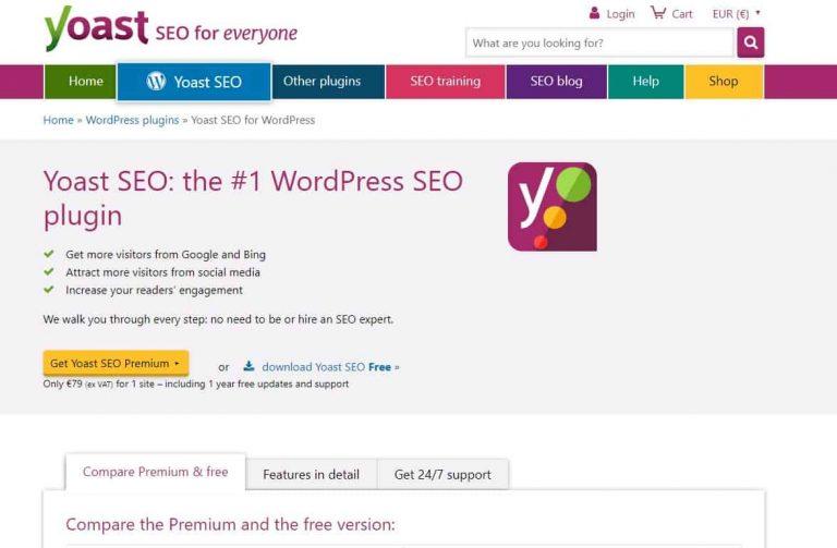 Yoast SEO Webseite