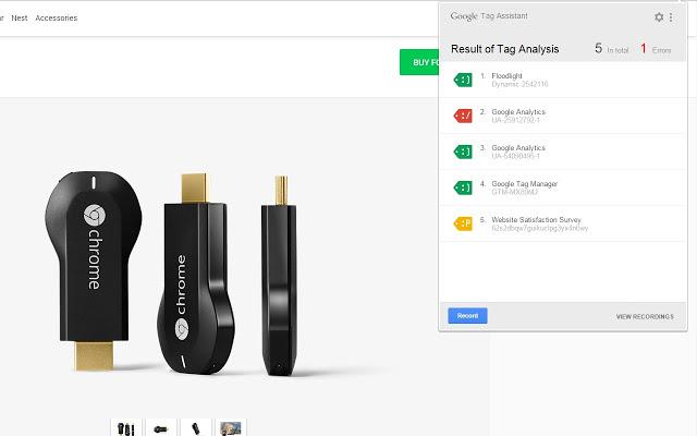 Google Tag Assistant Screenshot