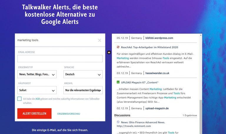 Talkwalker Alerts Screenshot
