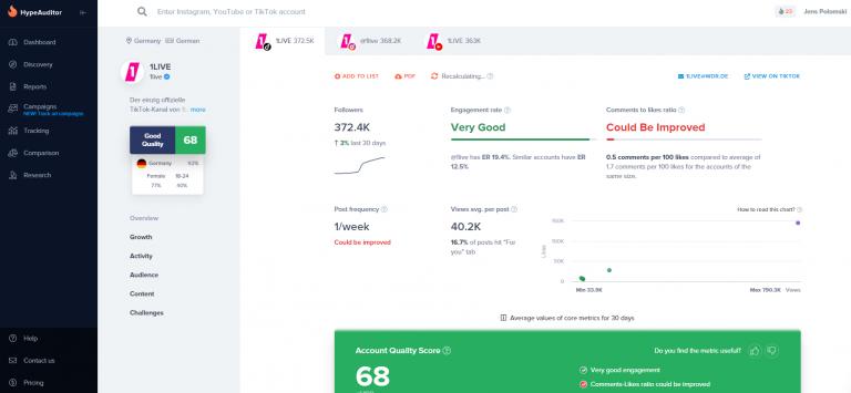 Die besten TikTok Analyse Tools für 2020 4