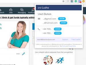 lusha-screenshot 1