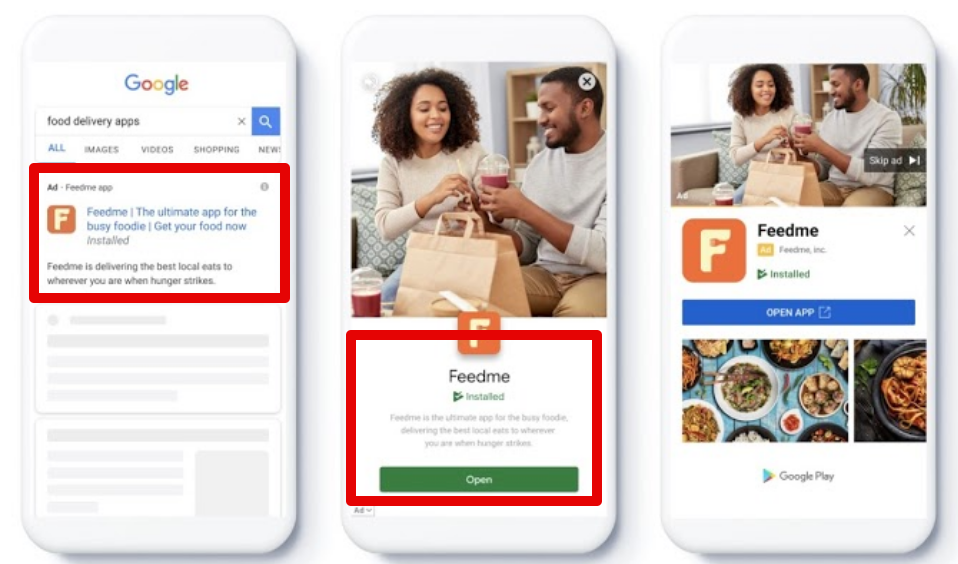 App campaigns for engagement