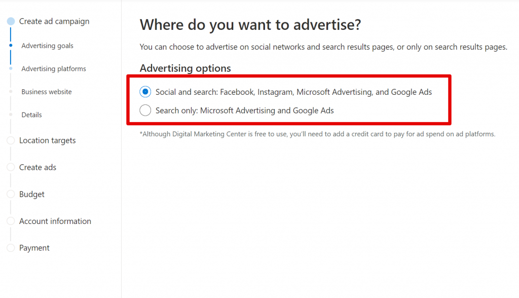 Microsoft Digital Marketing Center 2